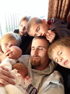 "The funny thing about this pic is that Hadassah is the only real ""sleeper"" and Daddy took this picture himself!"